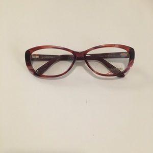 Tom Ford Burgundy Eye Glass Frames